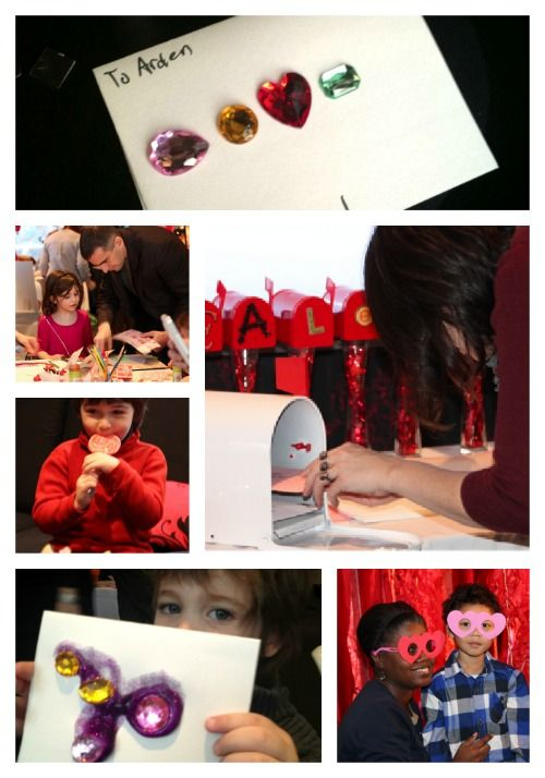 Kids creating valentines with Martha Stewart Crafts