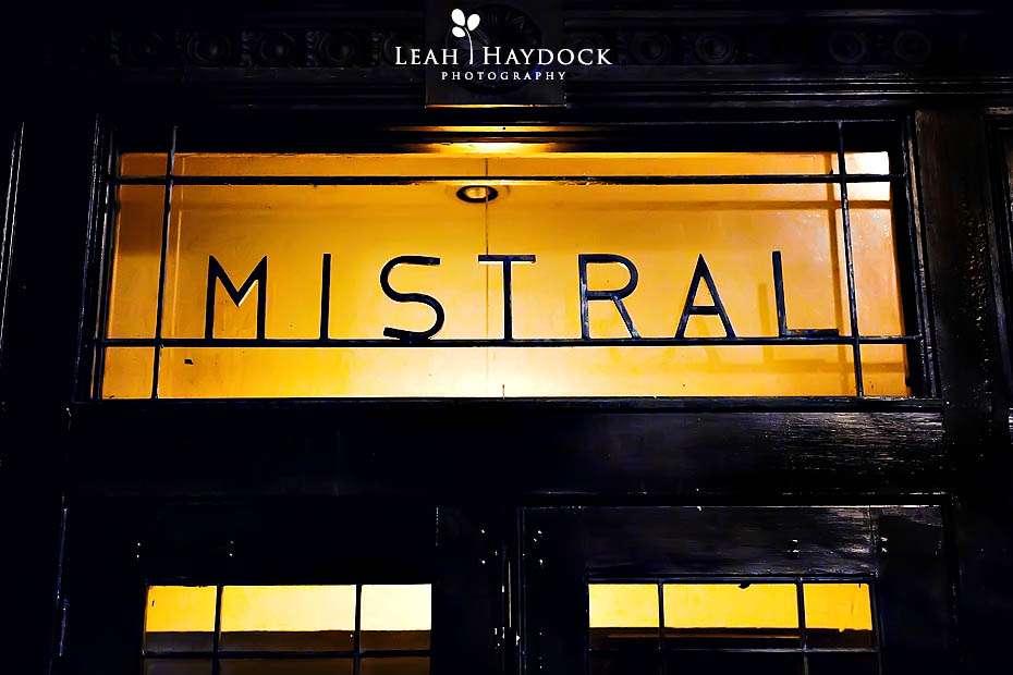 Mistral Restaurant Boston Wedding Reception Photographs Becky
