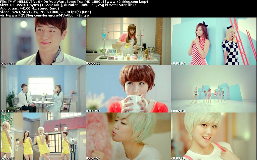 [MV] HELLOVENUS - Do You Want Some Tea [HD 1080p Youtube]