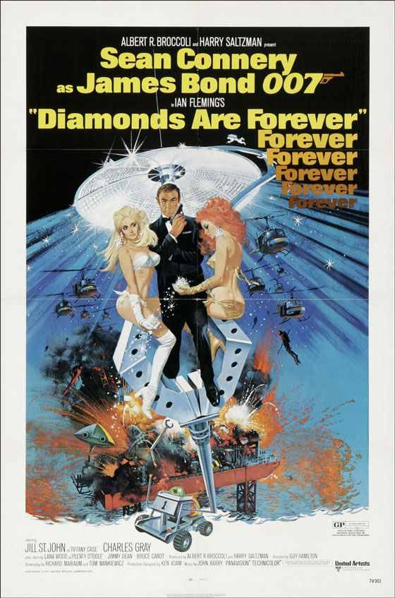 James Bond 007 Diamonds Are Forever Poster