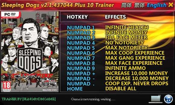 sleepingdogs2143704410t Sleeping Dogs 2.1.437044 +10 Trainer