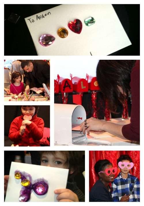 Kids creating valentines with Martha Stewart Crafts